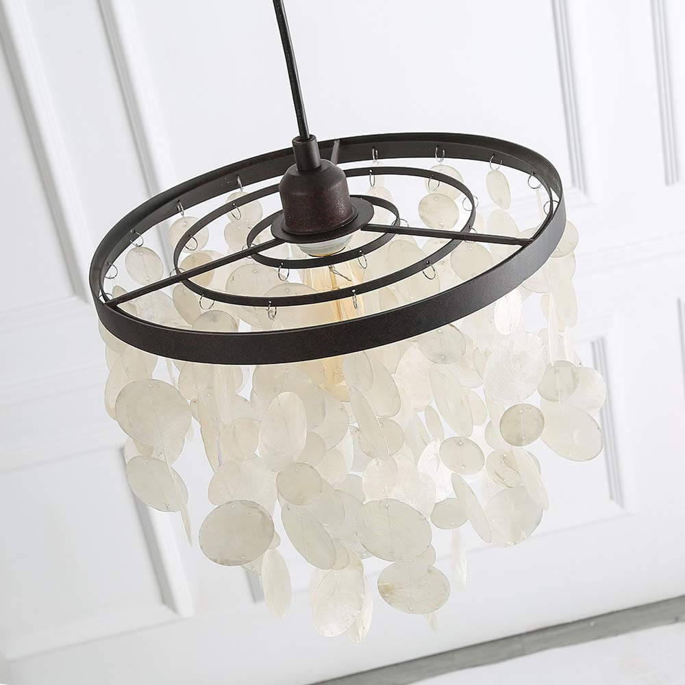 Capiz Shell Chandelier for Your Coastal Kitchen