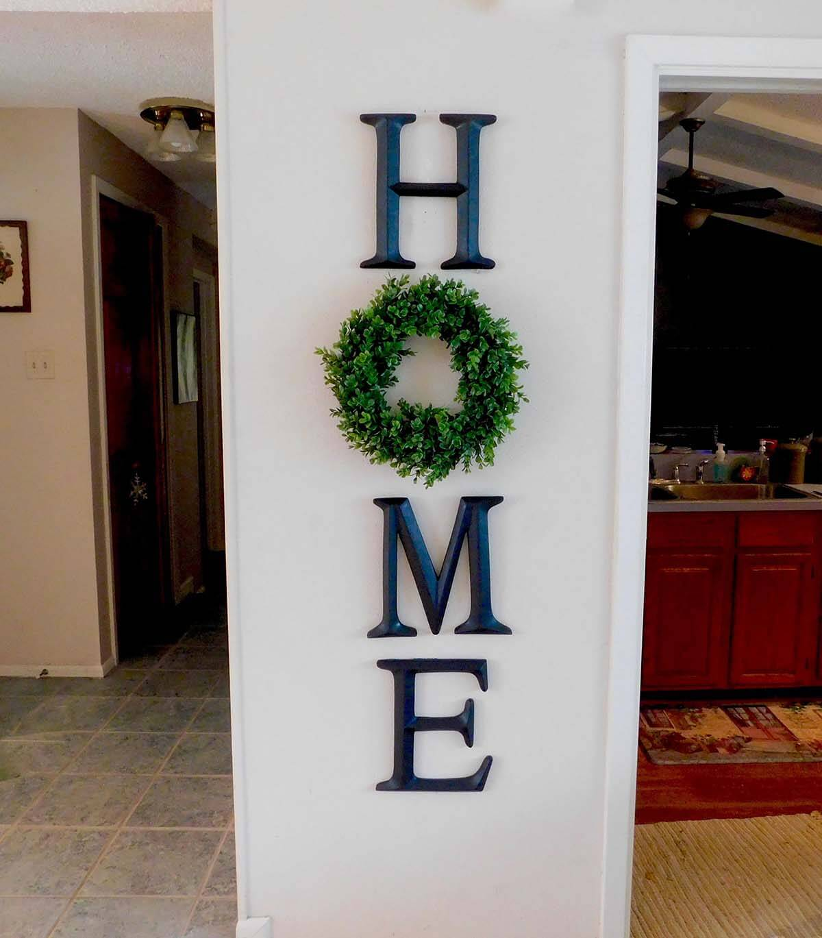 Home Letter Metal Wall Decor Sign