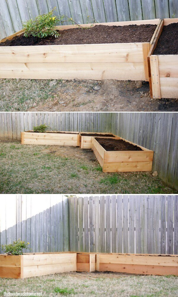 Simple and Stylish Fence Raised Garden Beds