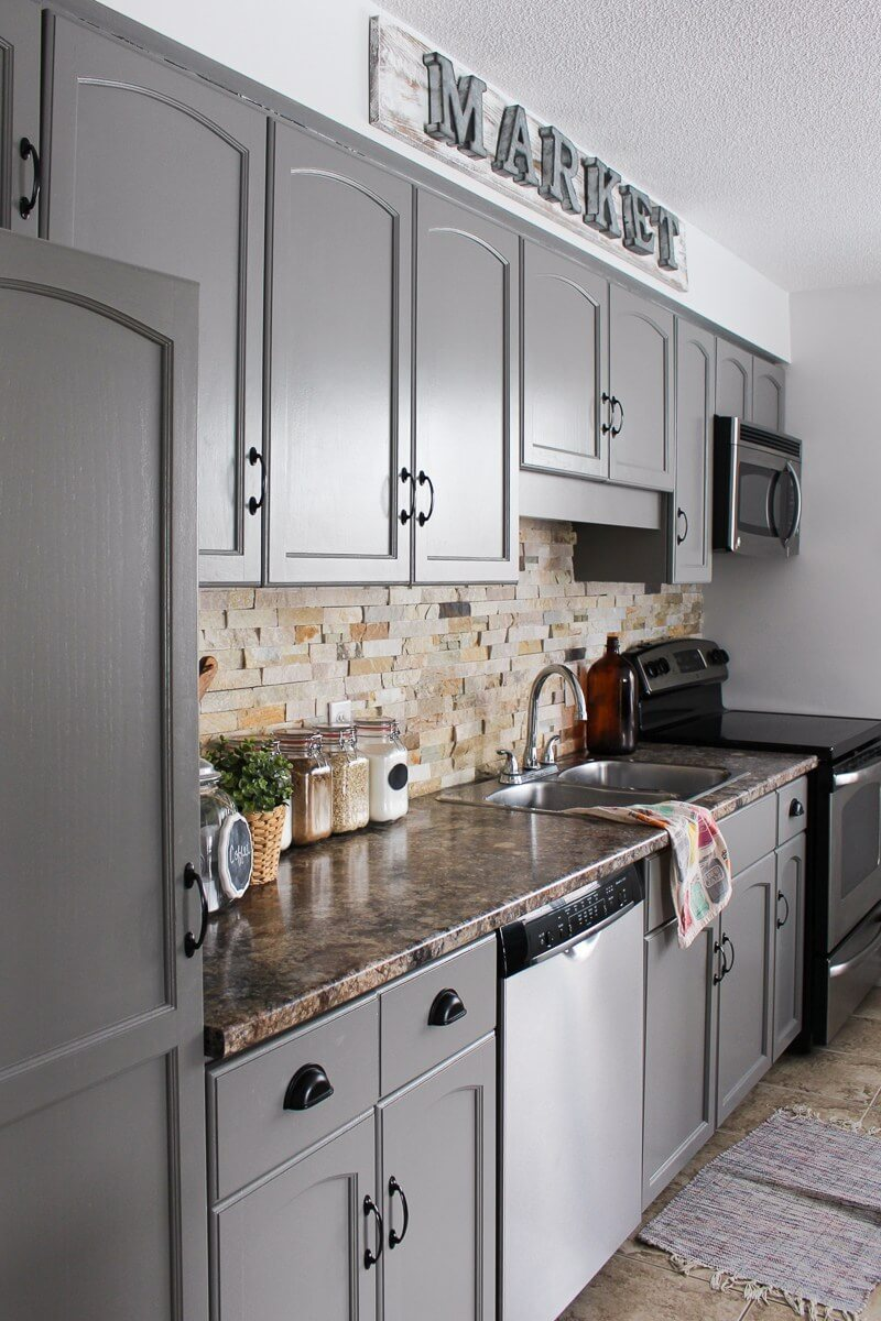 Cool Gray for a Hip Modern Kitchen