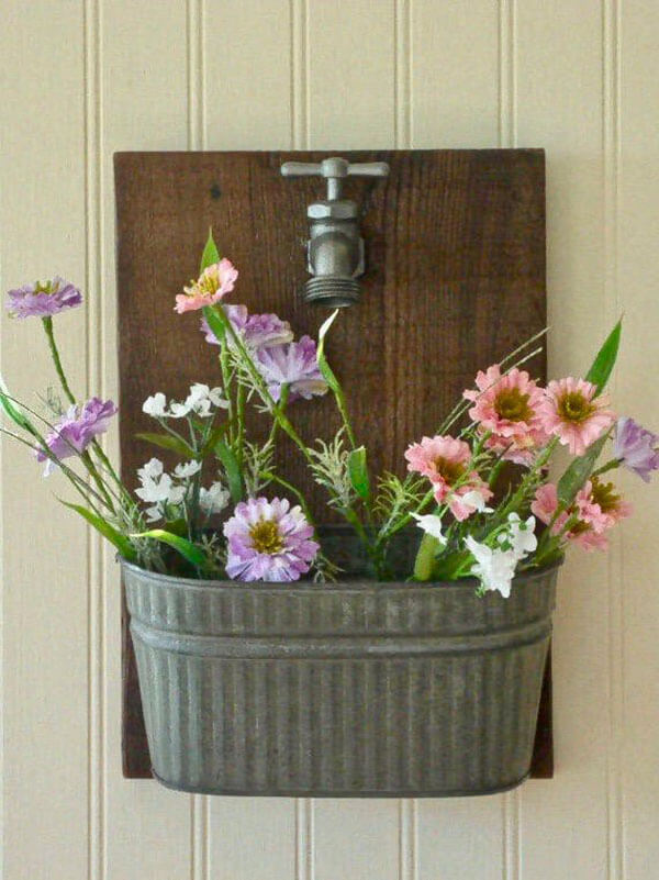 A Unique and Versatile Faucet Wall Planter