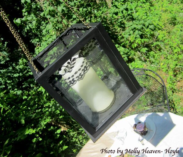 DIY Hanging Lantern Using Clear Frames