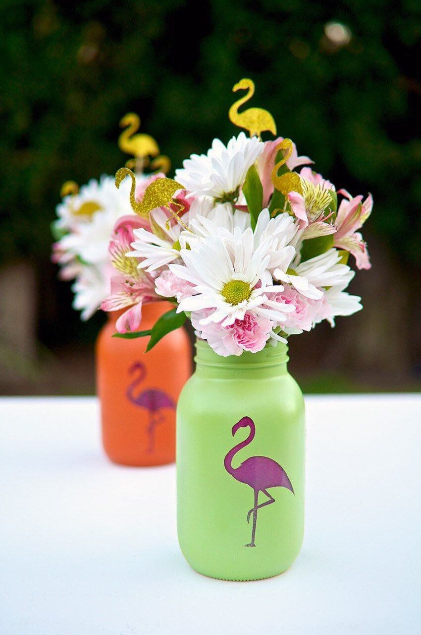 Doin' it in Style Flamingo Vases