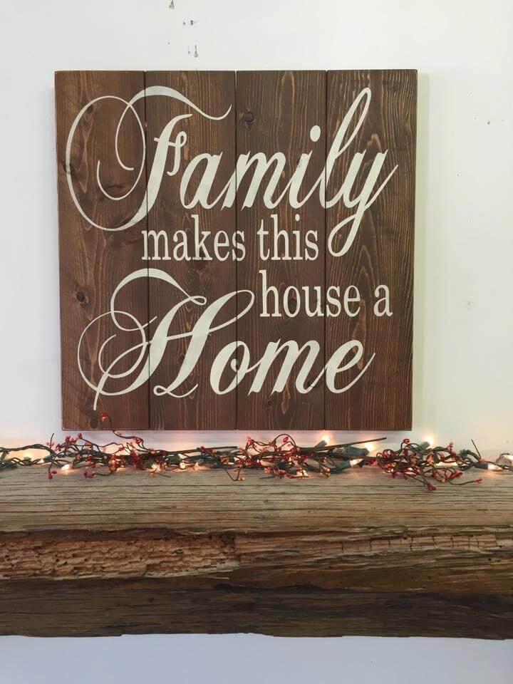 Farmhouse Family Dark Wood Décor