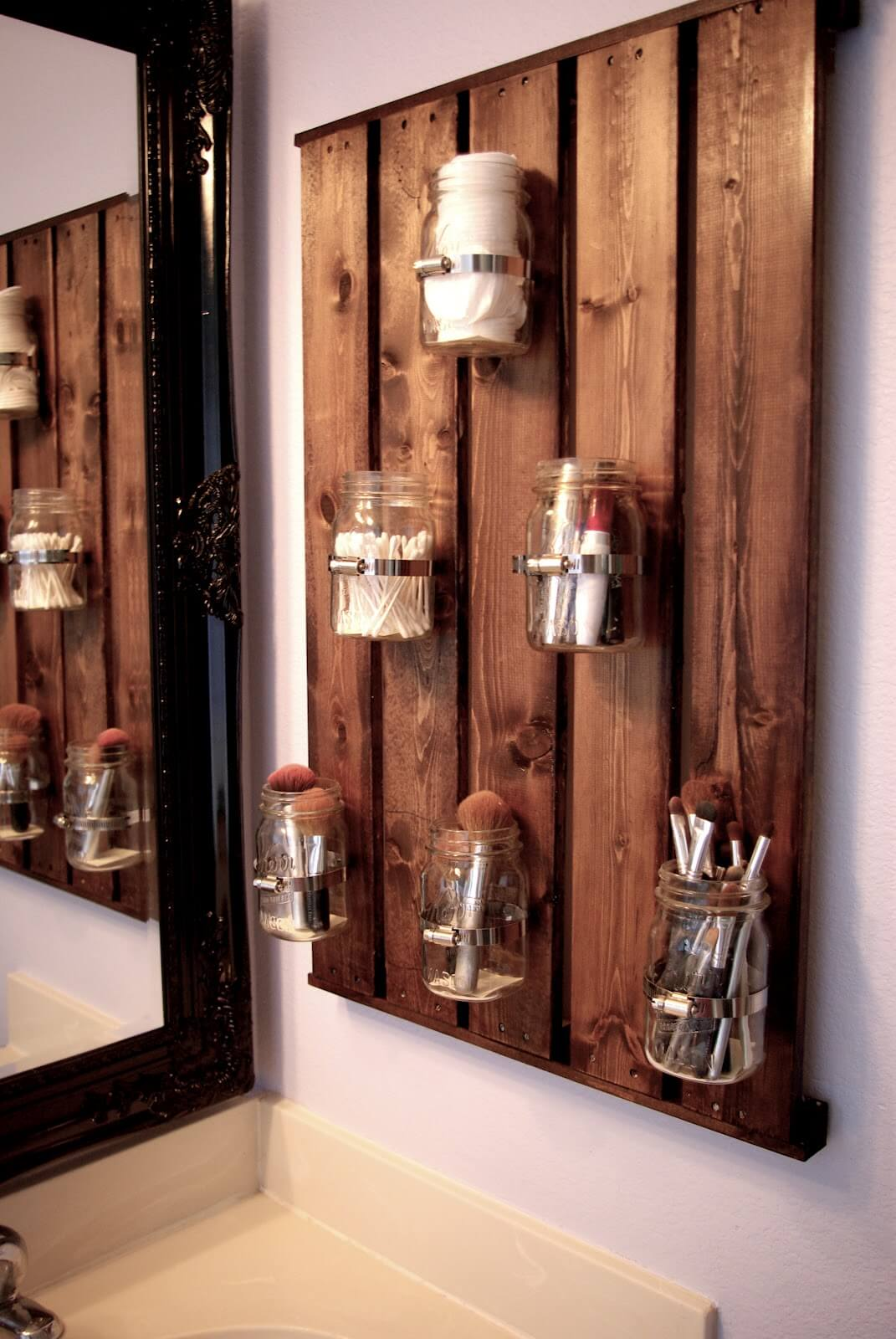 Mason Jar Bathroom Storage System