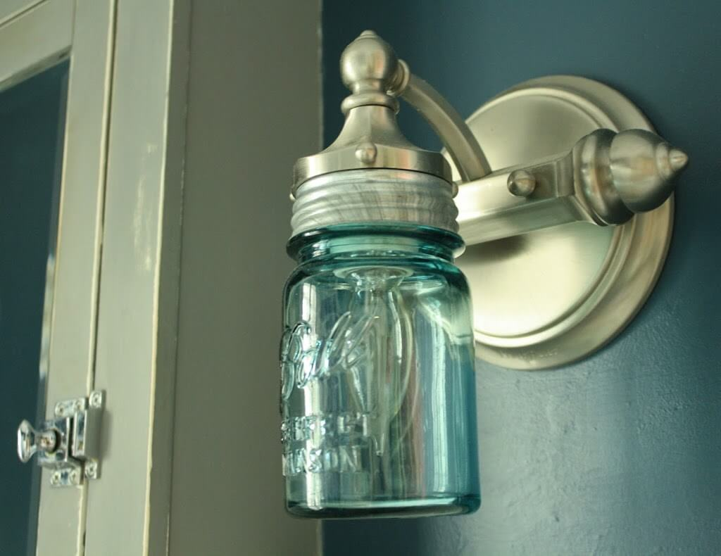 Mason Jar Sconce Light DIY