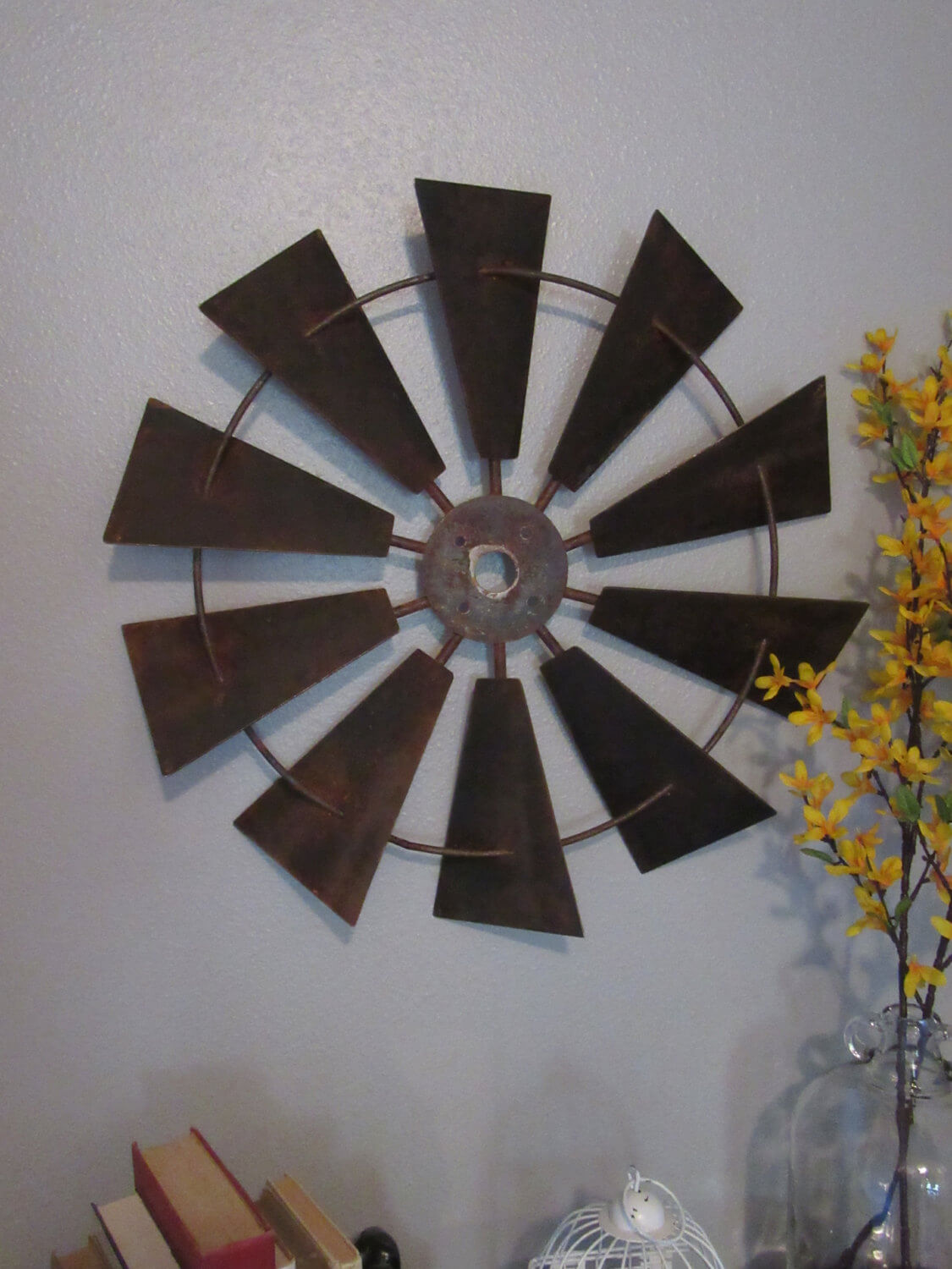 Metal Windmill Industrial Wall Art