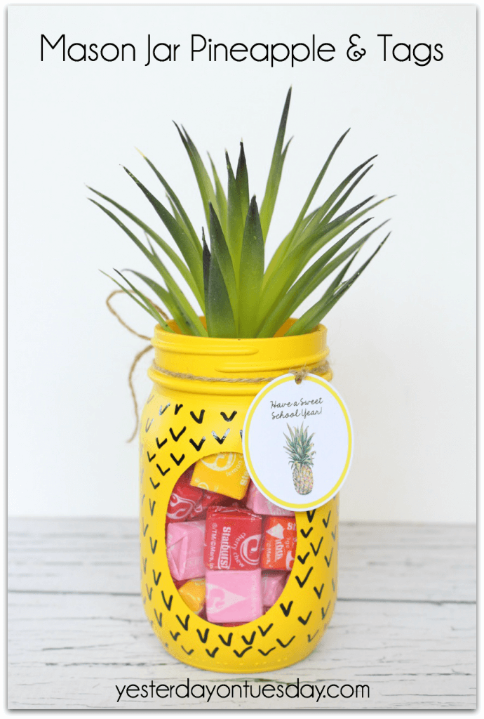 Playful Peekaboo Pineapple Candy Jar