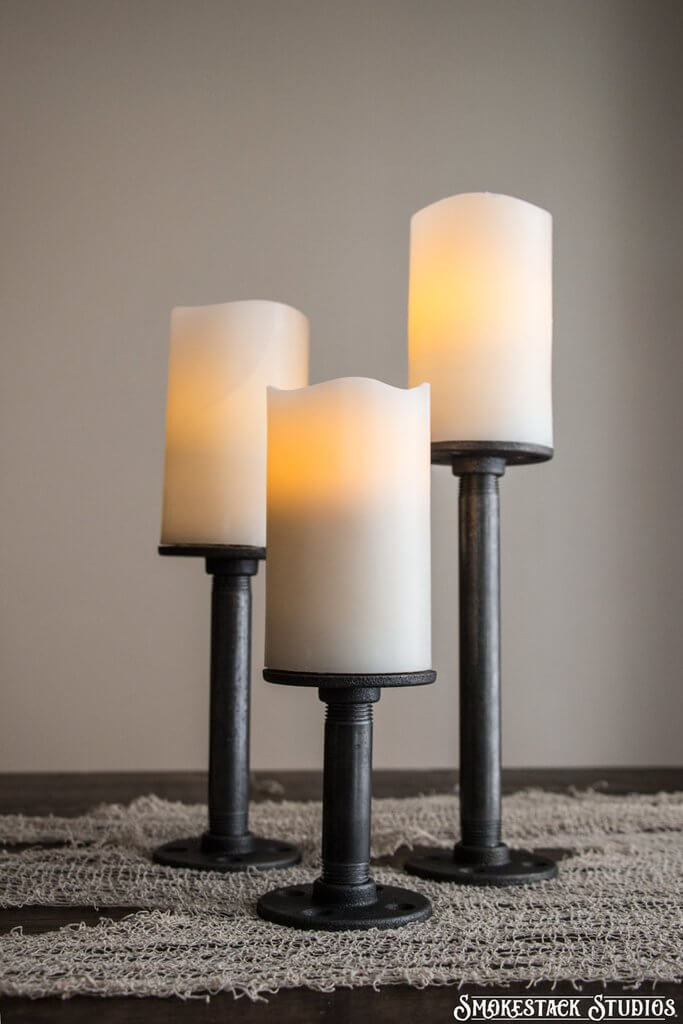 Pipe Pillar Candle Holders Perfect for Display
