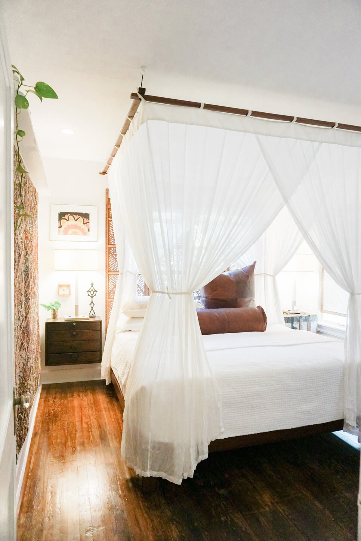 Luxury Cotton Mosquito Net with Sunbrella Topper