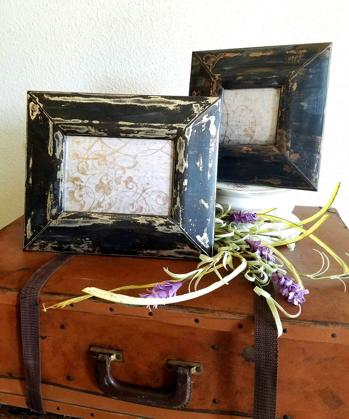 Hand Painted Rustic Black Frames