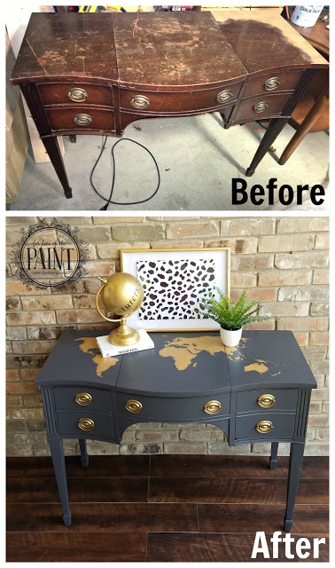 Beautiful Upcycled Drexel Desk
