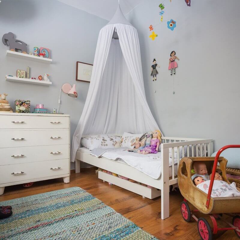 White Organic Cotton Hanging Canopy