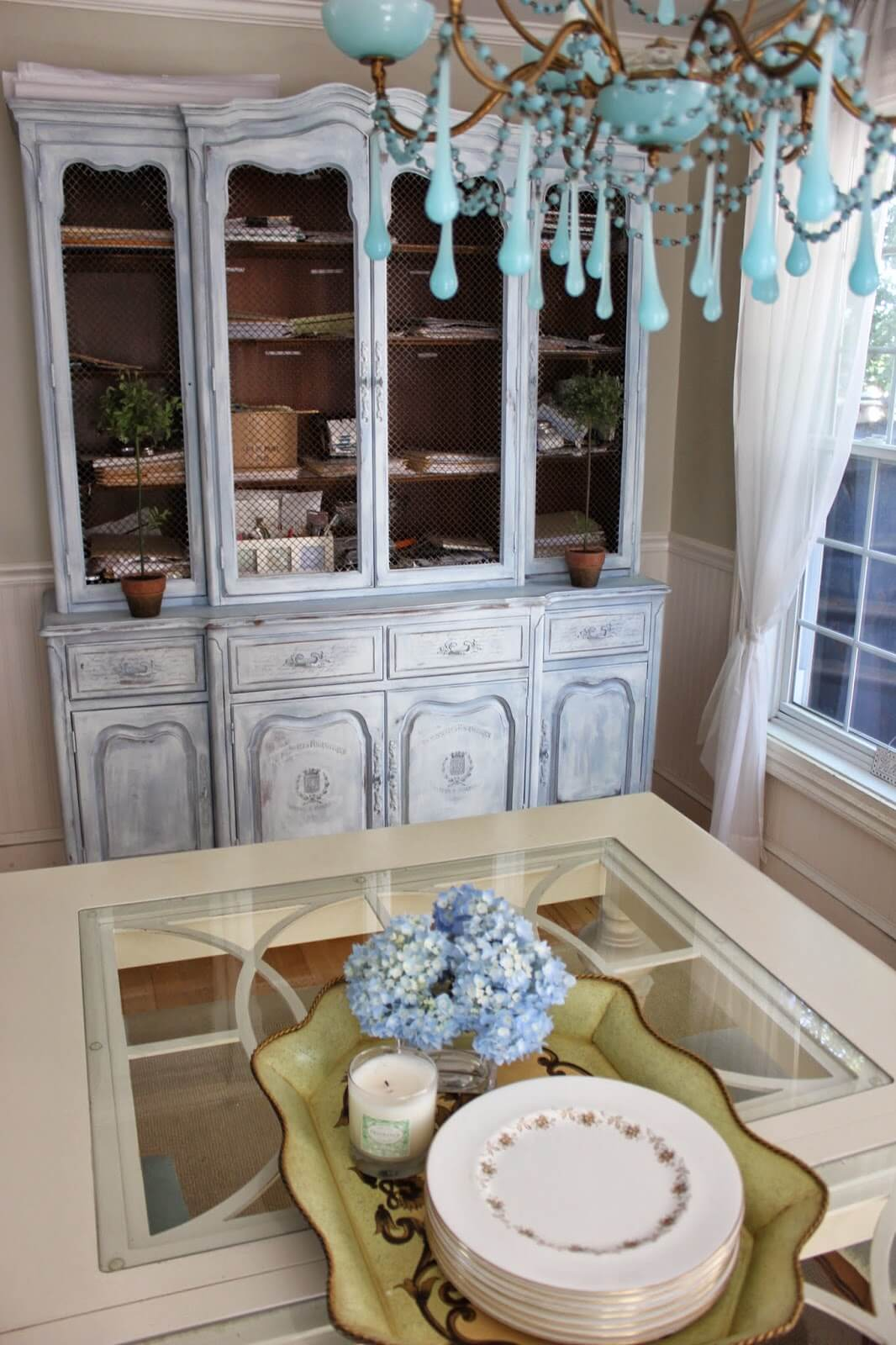 French Farmhouse Painted Cabinet