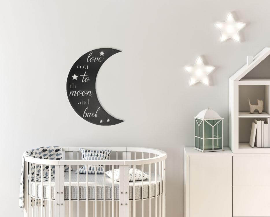 Darling Metal Moon Wall Sign