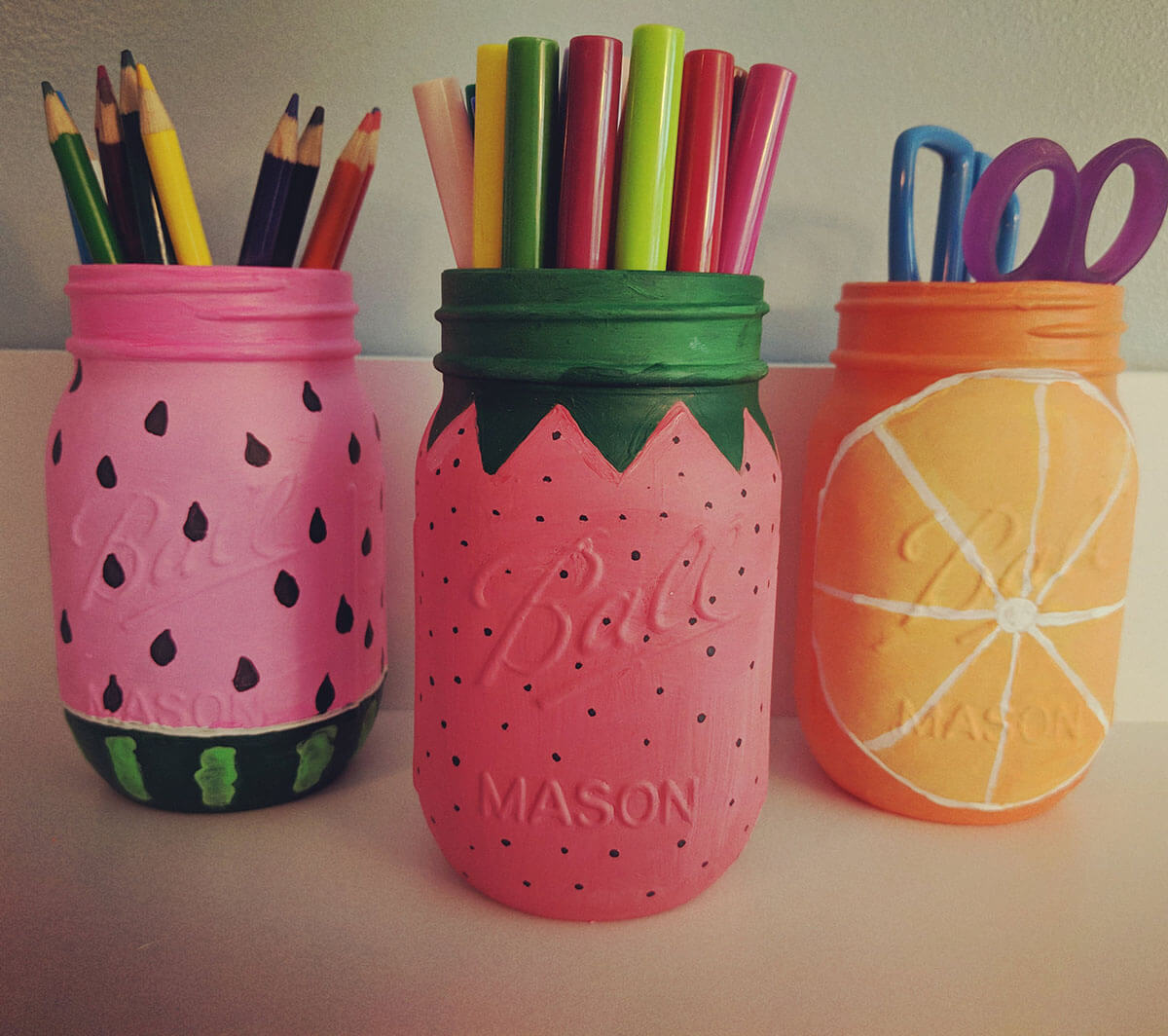 Fresh and Fruity Summertime Art Supply Holders