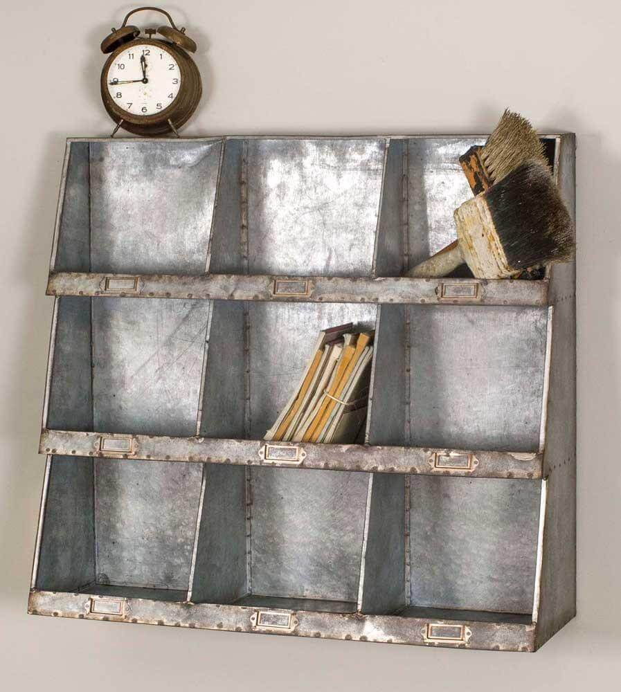 Galvanized Wall Cubbies for Extra Storage