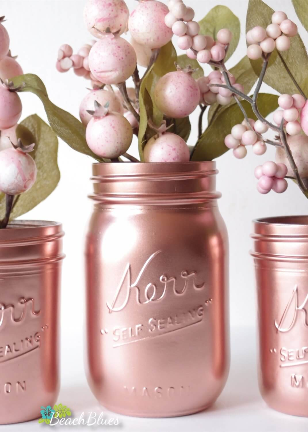 Shiny Metallic Jars for Décor or Special Events