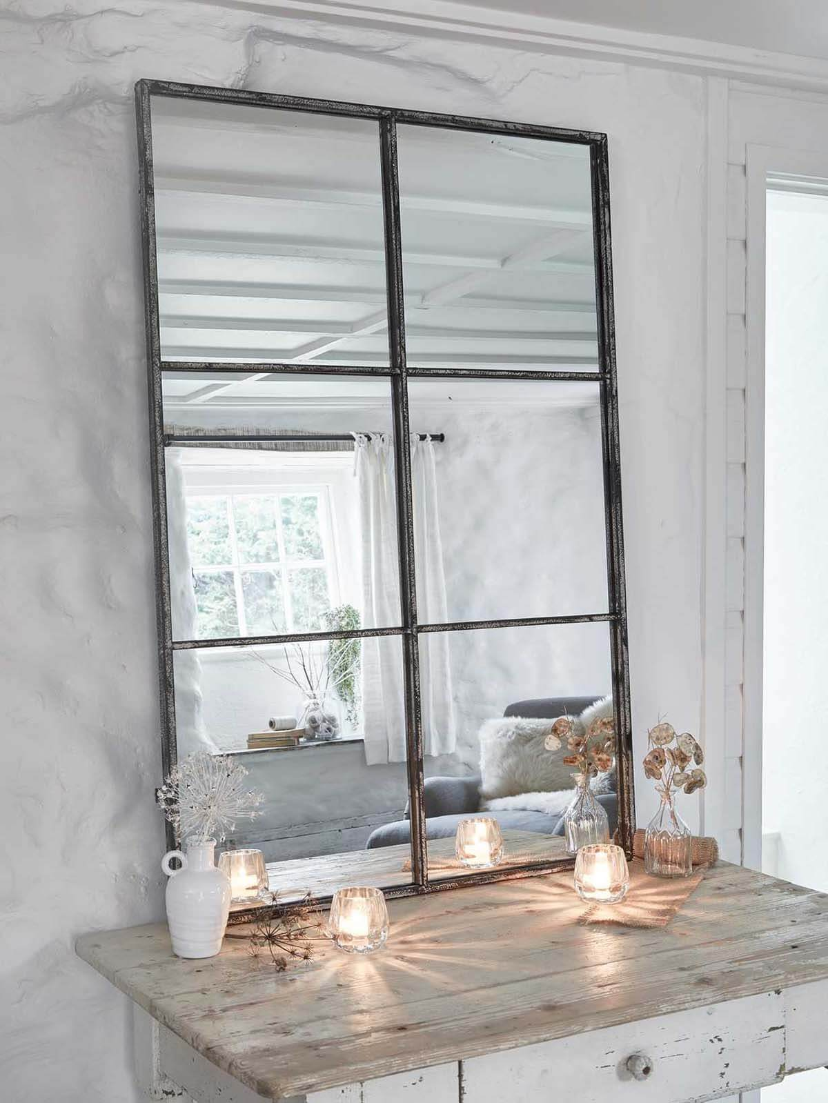 Timeless, Industrial Loft-Style Window Mirror