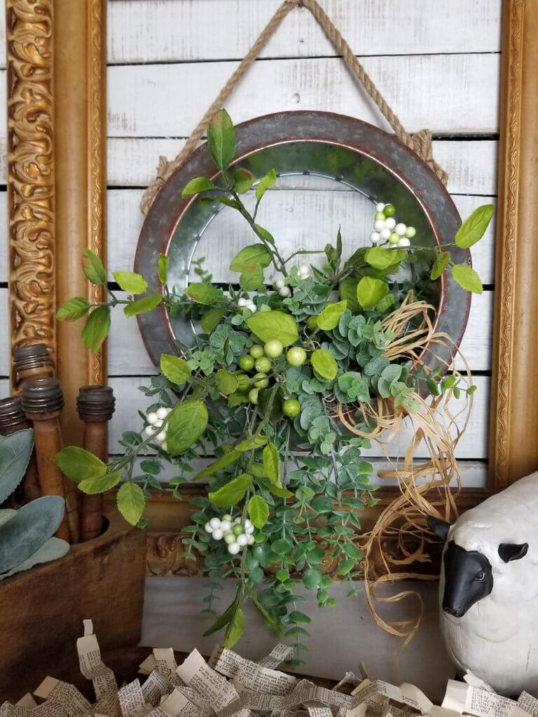 Metal Wildflower Hanging Wall Planter