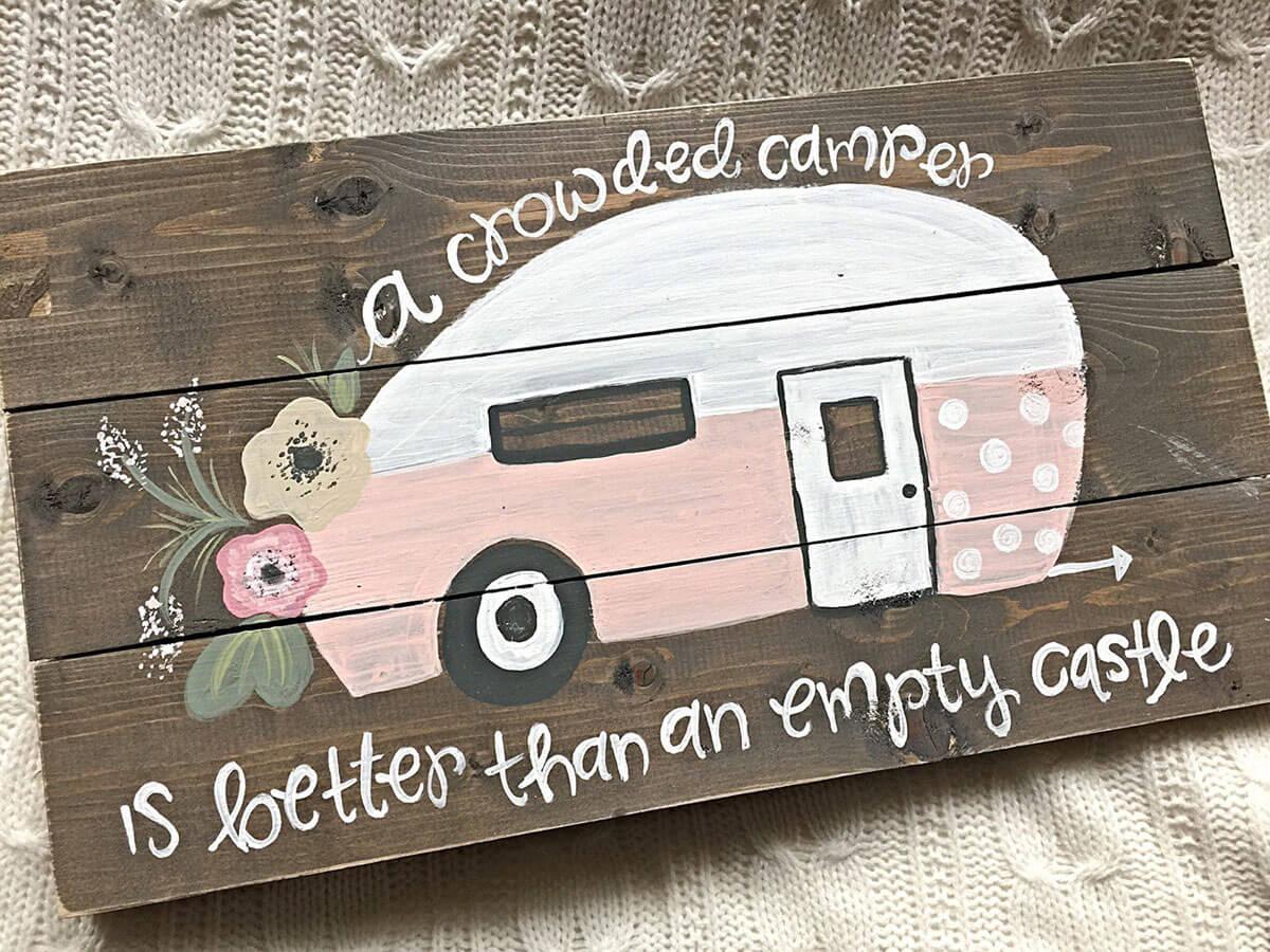 Utterly Adorable Camper Love Sign
