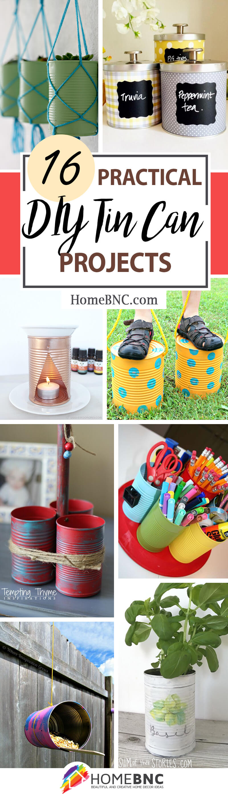 DIY Tin Can Project Ideas