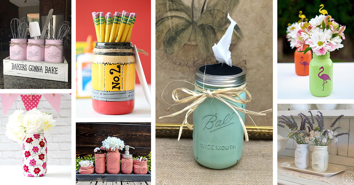 28 Best Painted Mason Jar Ideas And Designs For 2021