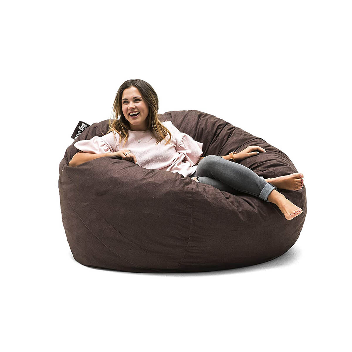 Original Big Joe Cocoa Lenox Fuf Foam-Filled Bean Bag