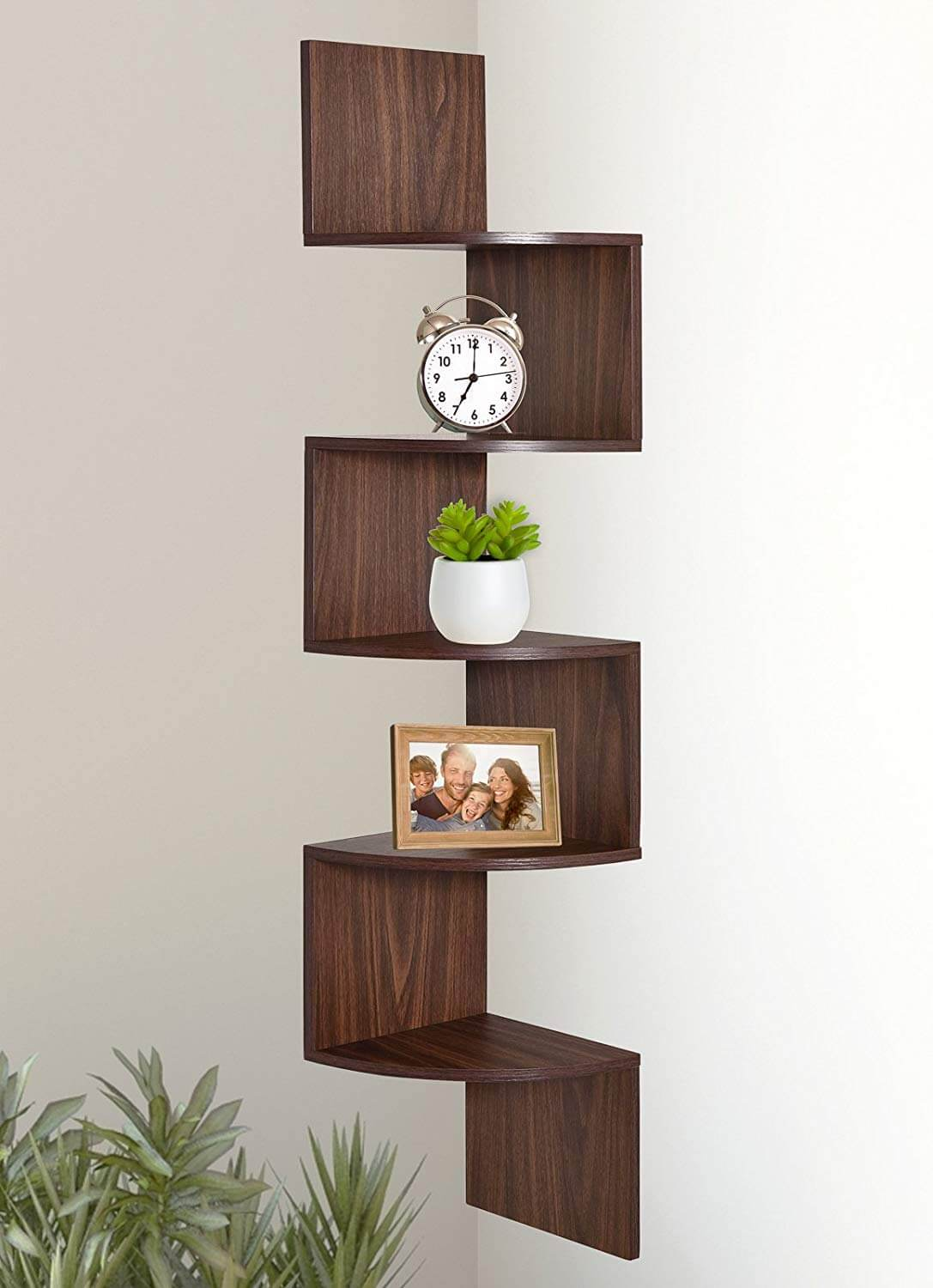 Zig-Zag Goodness 5-Tier Wall Mount Shelf