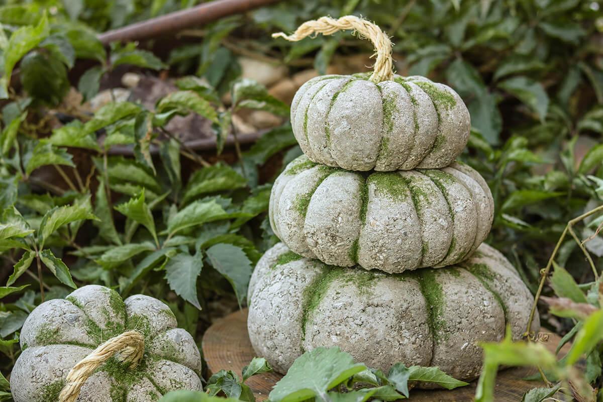 Concrete Pumpkin for Fall Décor