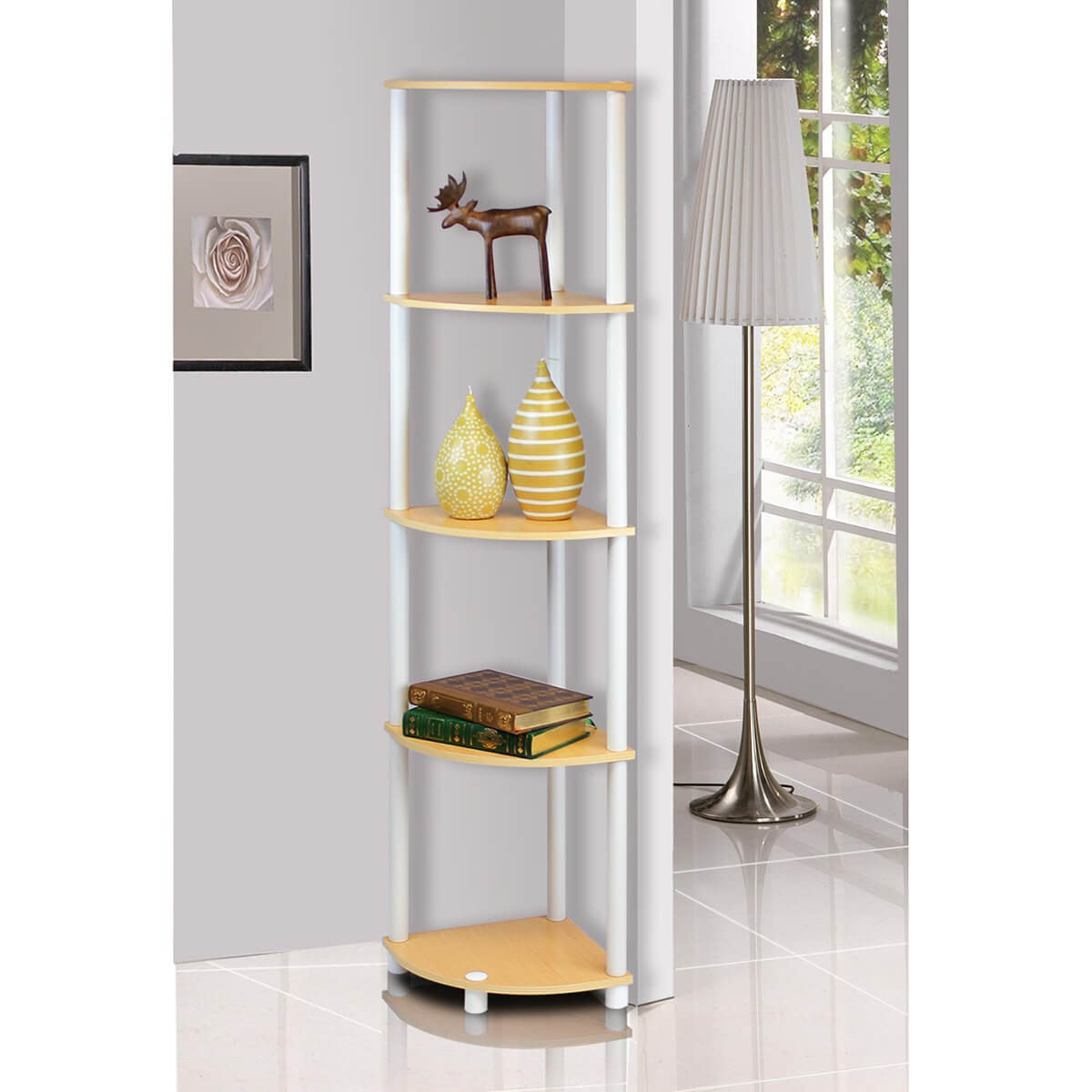 Chic Freestanding Turn-N-Tube Bookcase