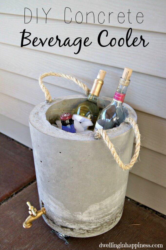Concrete Beverage Cooler for Hot Summer Days