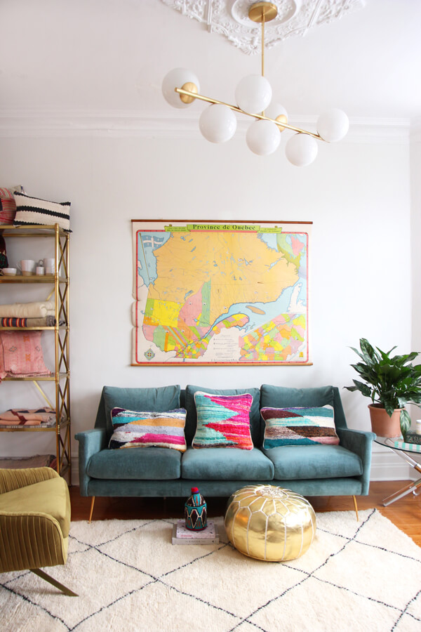 Colorful Local Map Wall Art