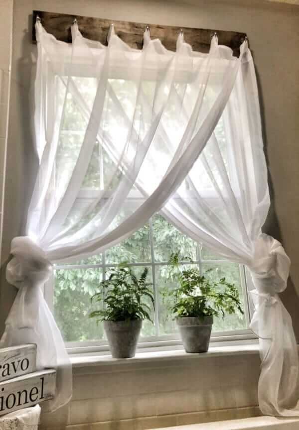 Expensive-Looking DIY Board and Hook Curtains