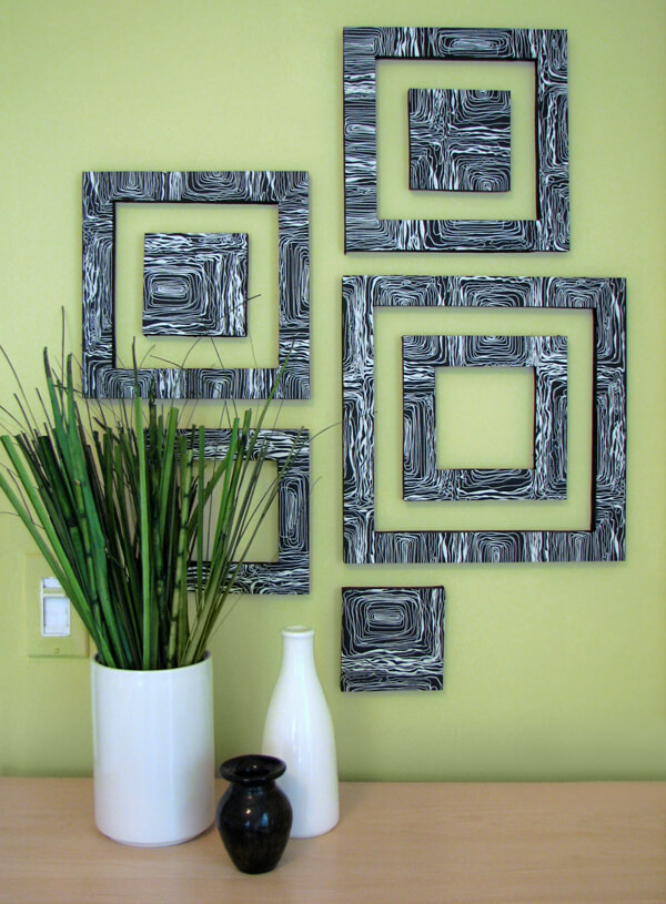 Funky Squares Wall Art Design