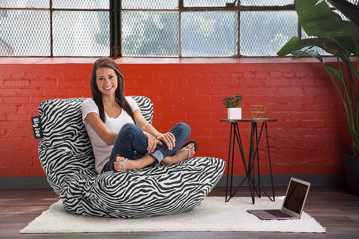 Big Joe Roma Chair in Zebra
