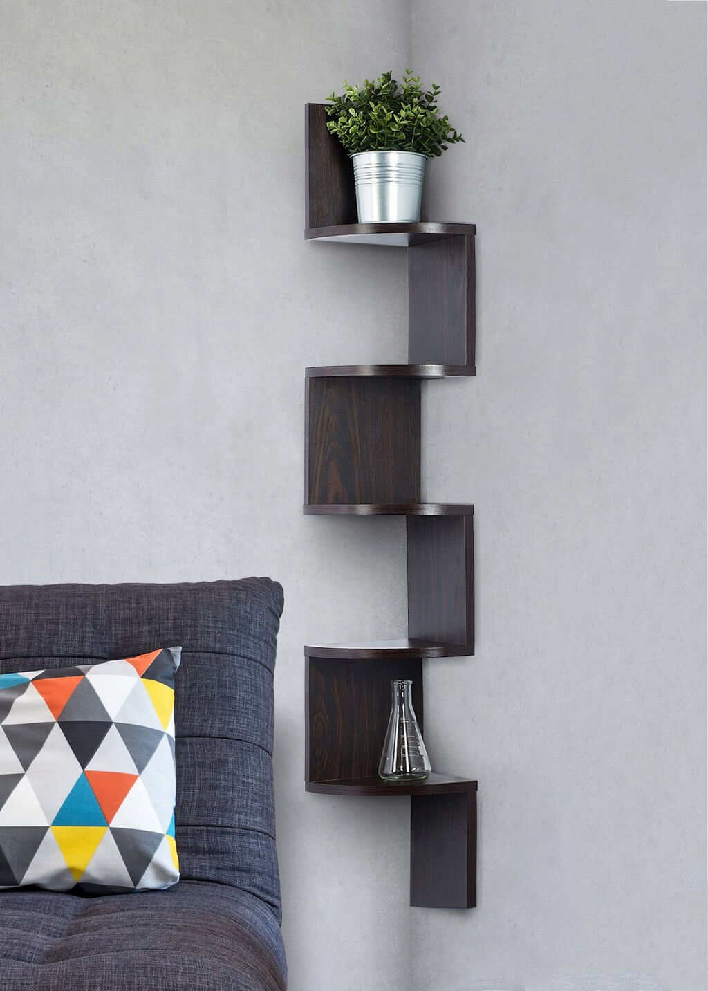 Rich Dark Wall Mount Shelf