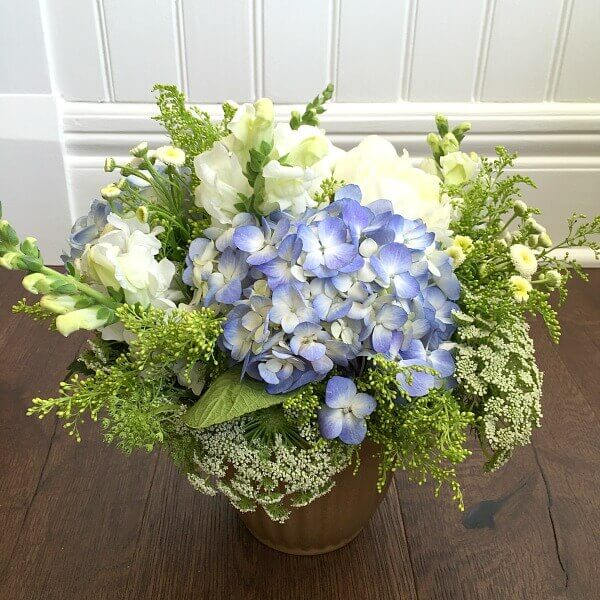 A Splashy Accent of Color Flower Arrangement