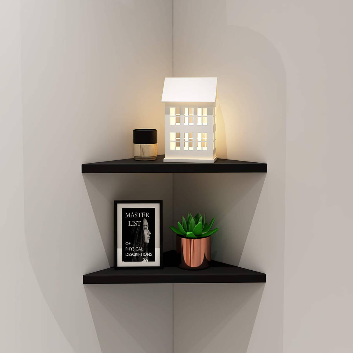 Minimalist Floating Corner Wall Shelf
