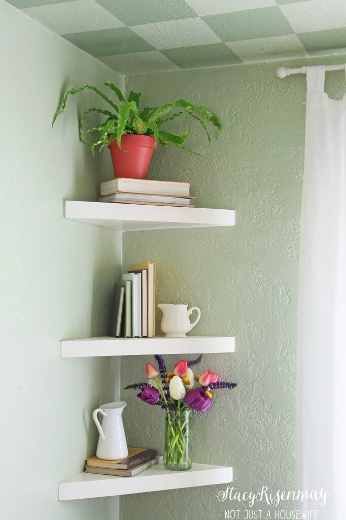 Cute and Classic Triangle Corner Shelves