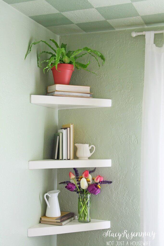 Cute and Classic Triangle Corner Shelves