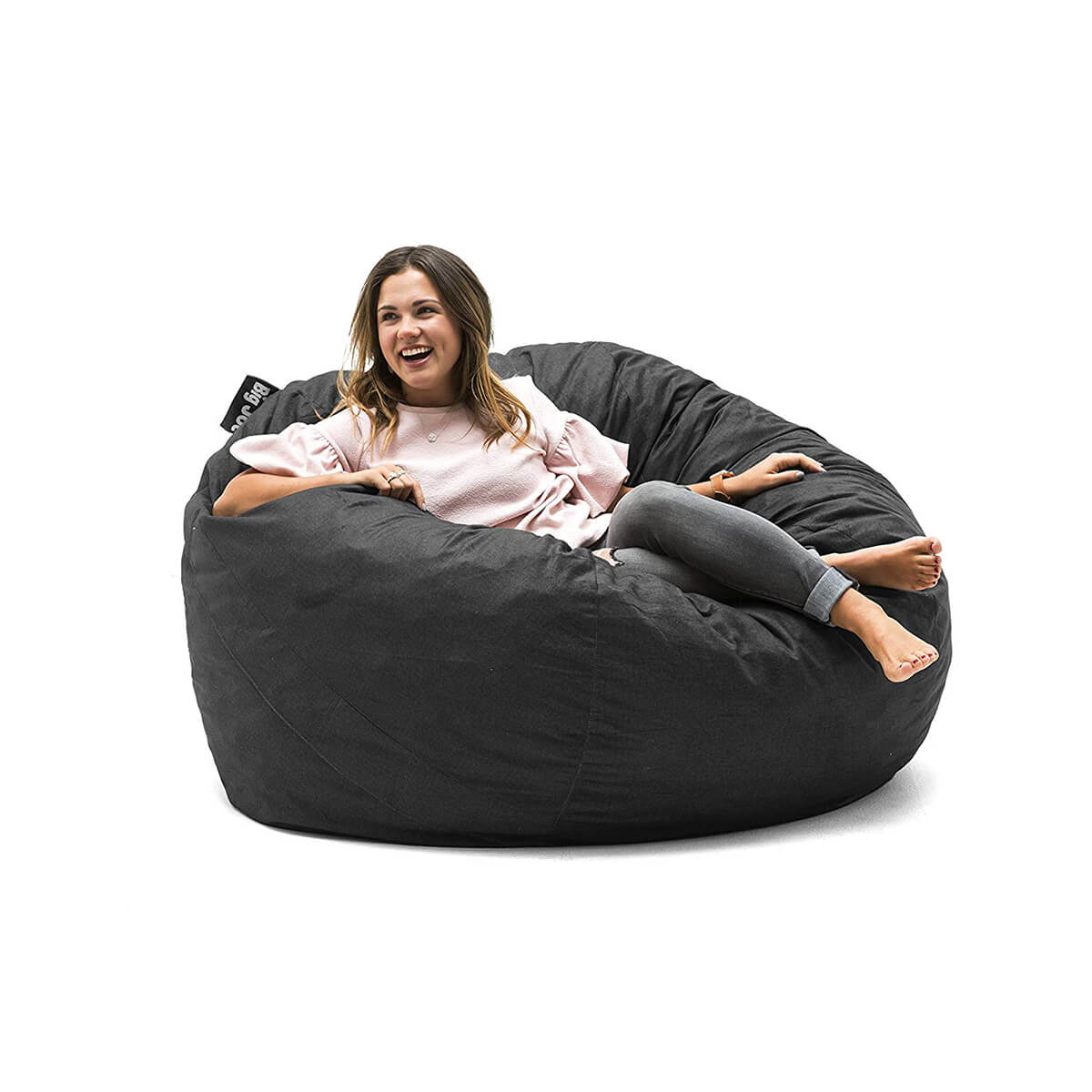 Big Joe Large Fuf Foam Chair in Black Lenox