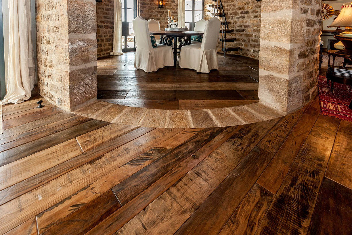 Mixed Hardwoods Add Character to Your Living Room