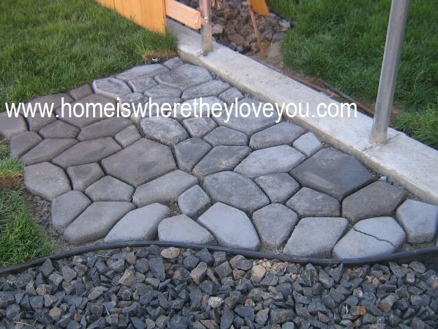 Create a Cobble Stone Pathway with Concrete