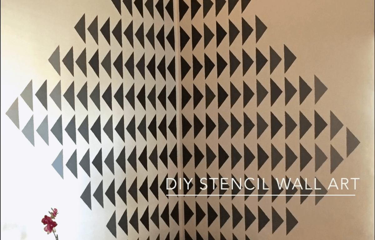 Simple Stencil Living Room Wall Art