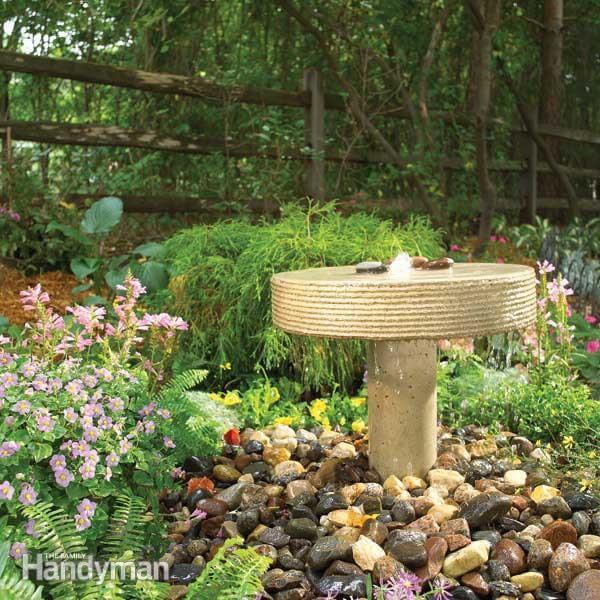 Concrete Garden Fountain Perfect for a Patio
