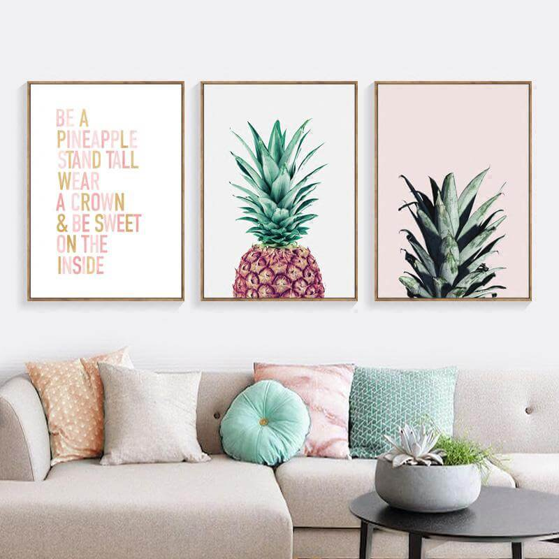 Three Panel Thematic Print Art