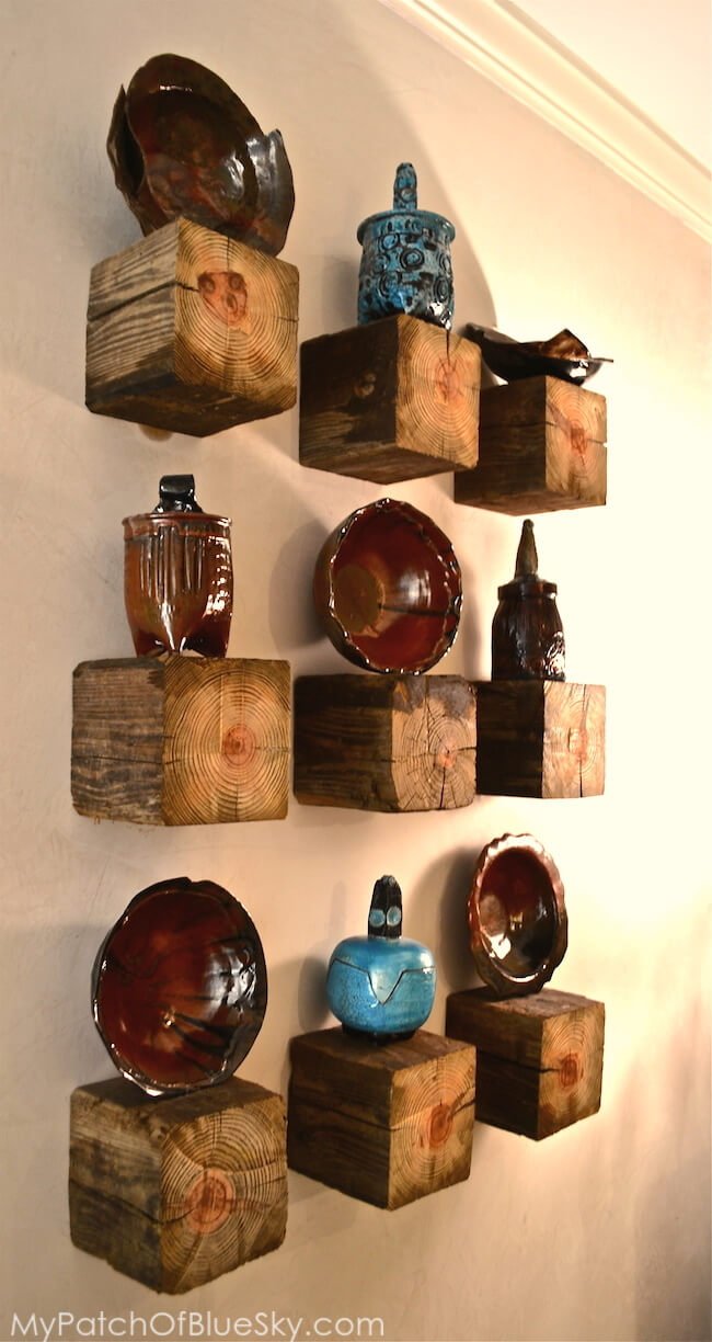 Clever Floating Block Shelf Display