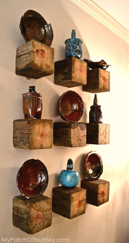 Clever Floating Block Shelf Display