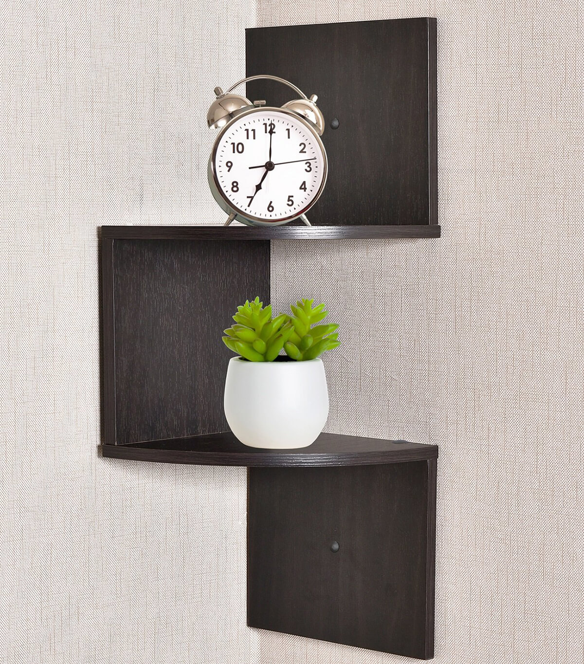 2-Tier Zig Zag Floating Shelf